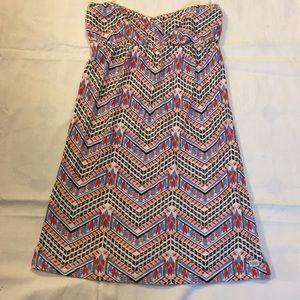 Billabong Strapless Tribal Print Dress Juniors